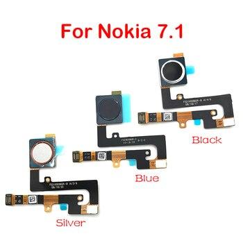 10Pcs Repair Fingerprint Scanner For Nokia 7.1 ID Home Button Fingerprint Menu Return Key Recognition Sensor Flex Cable