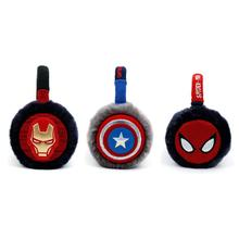 Korean Winghouse Children Earmuffs Captain Amercia Spider-Man Iron Man Plush Ear Bag Boy Winter Warm Windproof Earplugs