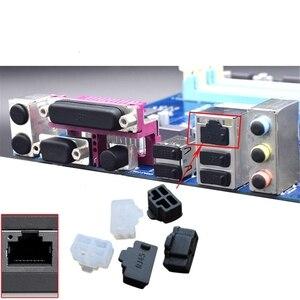 Image 1 - 100pcs/lot Ethernet Hub Port RJ45 Anti Dust Cover Cap Protector Plug RJ45 Dust Plug For Laptop/ Computer/ Router RJ45 G99B