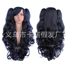 Good quality hair accessories Anime Cosplay Wigs Black Double Tiger Clip Costume hat Wig hair extension free shipping(China)