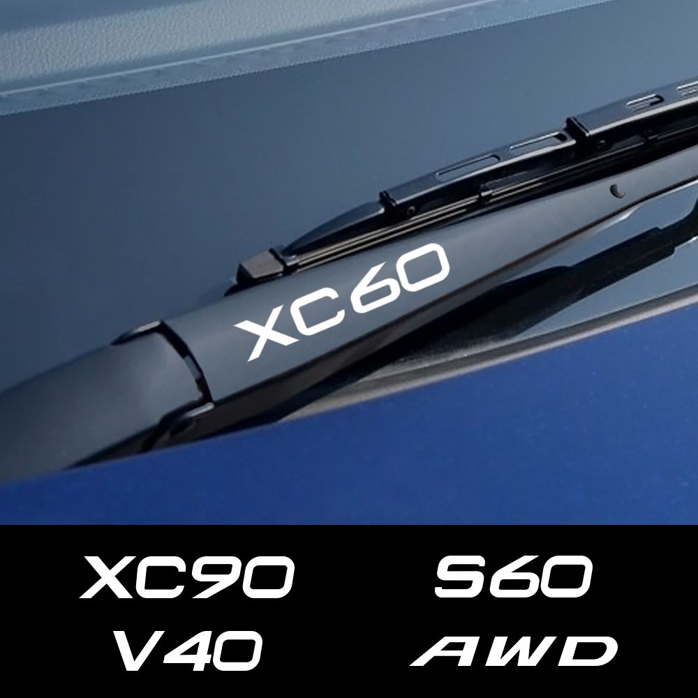 4PCS Car Reflective Window Wiper Stickers For Volvo S60 XC90 V40 V50 V60 S90 V90 XC60 XC40 AWD T6 Auto Decor Decals Accessories