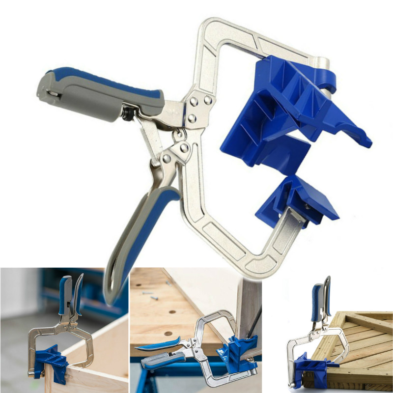 Image 5 - New Auto adjustable 90 Degree Right Angle Woodworking Clamp Quick Clamp Pliers Picture Frame Corner Clip Hand Tool T ClampClamps   -