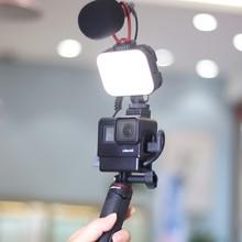 Ulanzi Vijim VL-100C Mini LED Vlog de luz ajustable en la Cámara de relleno de luz 2500K-6500K regulable de luz de la lámpara de luz para teléfono