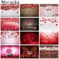 Фон для фотосъемки на День святого Валентина романтические сцены свадебный фон для фотосъемки Цветочные Красные розы сердце любовь фотосе...