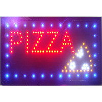 Pizza Led Sign Neon Sized 10x19 inch Indoor Pizza Store Business Ultra Bright Running Led Display Sign