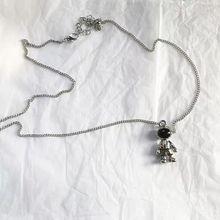 TC-7 60cm 11g  Little astronaut neutral zinc alloy pendant necklace boyfriendgift women necklace no 3 stylish zinc alloy scorpion pendant necklace brass black