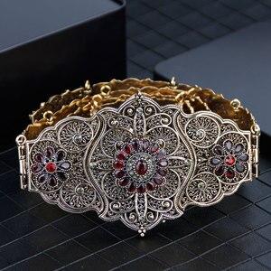 Image 5 - Sunspicems velha cor do ouro europeu feminino cinto completo cinza cristal étnico vestido de casamento caftan cintura jóias presente nupcial atacado