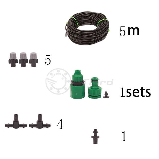 Bagnatura e la rimozione della polvere atomizzazione giardino impianto automatico waterer spray di raffreddamento dispositivo di sistema di irrigazione irrigazione vestito pigro 5