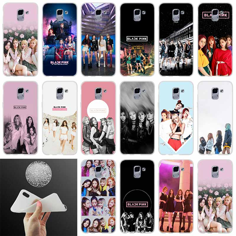 Phone case Cover BLACK PINK <font><b>kpop</b></font> BLACKPINK FOR <font><b>Coque</b></font> <font><b>Samsung</b></font> Galaxy <font><b>J6</b></font> J4 J8 J7 2018 <font><b>Plus</b></font> J3 J5 J7 Prime Pro 2017 2016 Casse image