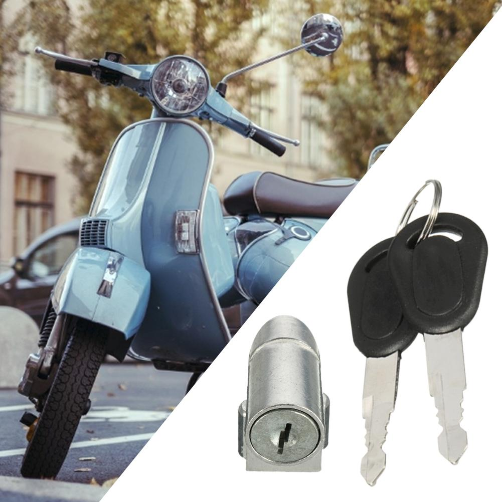 Motorcycle Accessories Ignition Switch Battery Safety Pack Box Lock + 2 Key For Motorcycle Electric Bike Scooter E-bike