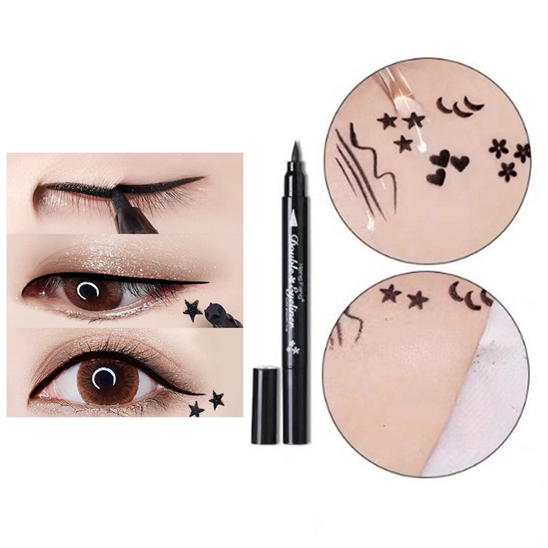 Beauty Eye Liner Stamp Winged Head Black Eyeliner Vamp Pen Seal Eye Make up Tool
