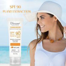 facial body sunscreen cream beauty skin care spf max 90 oil free radical scavenger anti oxidant grape/uvb 40g sunscreen