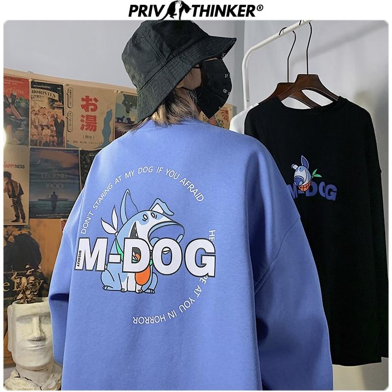 Privathinker Men Woman Print Spring Sweatshirt Men 2020 Fashion Korean O-Neck Hoodies Male Oversize Streetwear Pullover Clothes