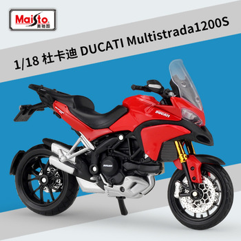 Maisto NEW 1:18 Ducati Multistrada  Alloy Diecast Motorcycle Model Workable Shork-Absorber Toy For Children Gifts Toy Collection 1 18 diecast model for nissan geniss livina red mpv alloy toy car miniature collection gifts