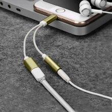 2 в 1 освещение зарядное устройство прослушивание адаптер для iphone X 7 Зарядка адаптер 3,5 мм разъем разветвитель AUX адаптер для iphone IOS 12
