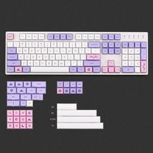 [In Stock]XDA Sakura keycaps Dye subbed thick PBT 134 keys for 61/87/104 cherry mx Mechanical Keyboard