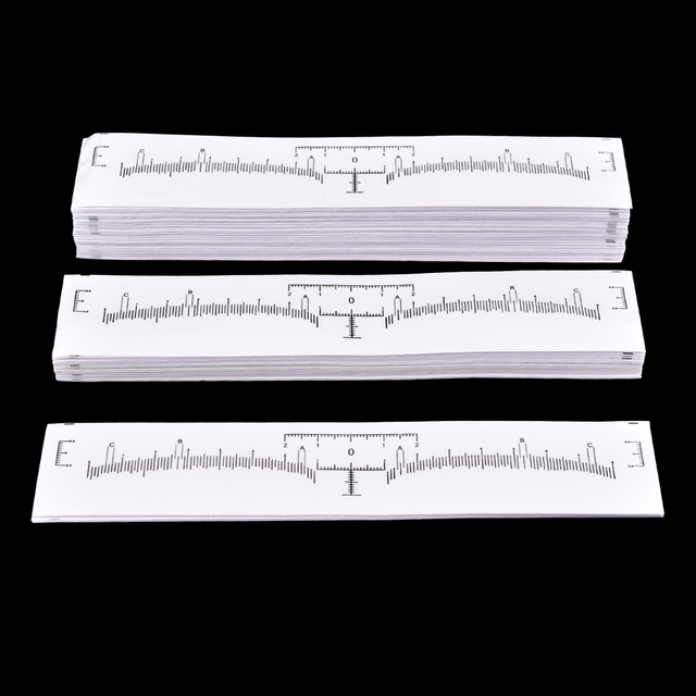 100Pcs Eyebrows Ruler Stickers Permanent Makeup Eyebrow Shaping Tools Disposable Eyebrow Measurement Ruler Sticker Size 18*2.2cm 4