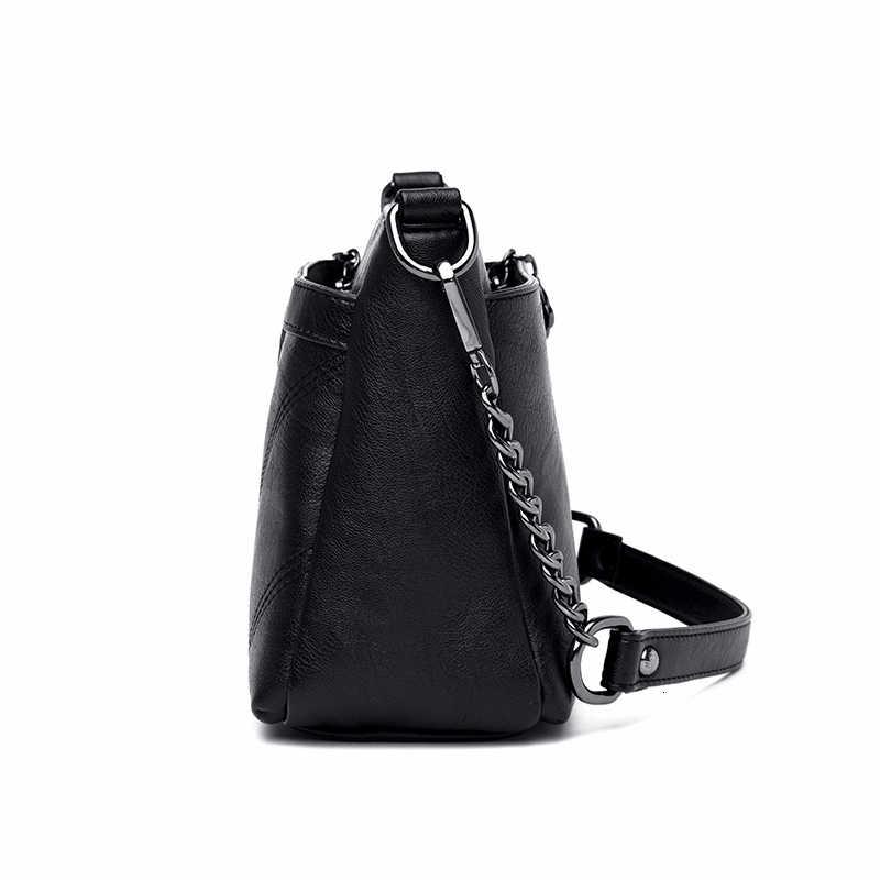 2019 Baru Wanita Messenger Tas Flap Kecil Crossbody Tas untuk Wanita Tas Kulit Mewah Merek Wanita Vintage Tas Sac utama