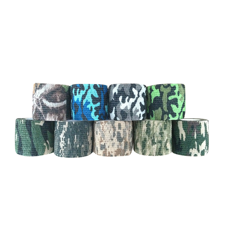5cmx4.5m Self-adhesive Camouflage Stretch Bandage Tactical Non-woven Tape For Rifle Gun Flashlight First Aid Health Care