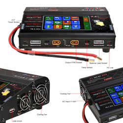 HTRC RC Balance Charger HT306 DC DUO 600W*2 30A*2 Dual Port 4.3