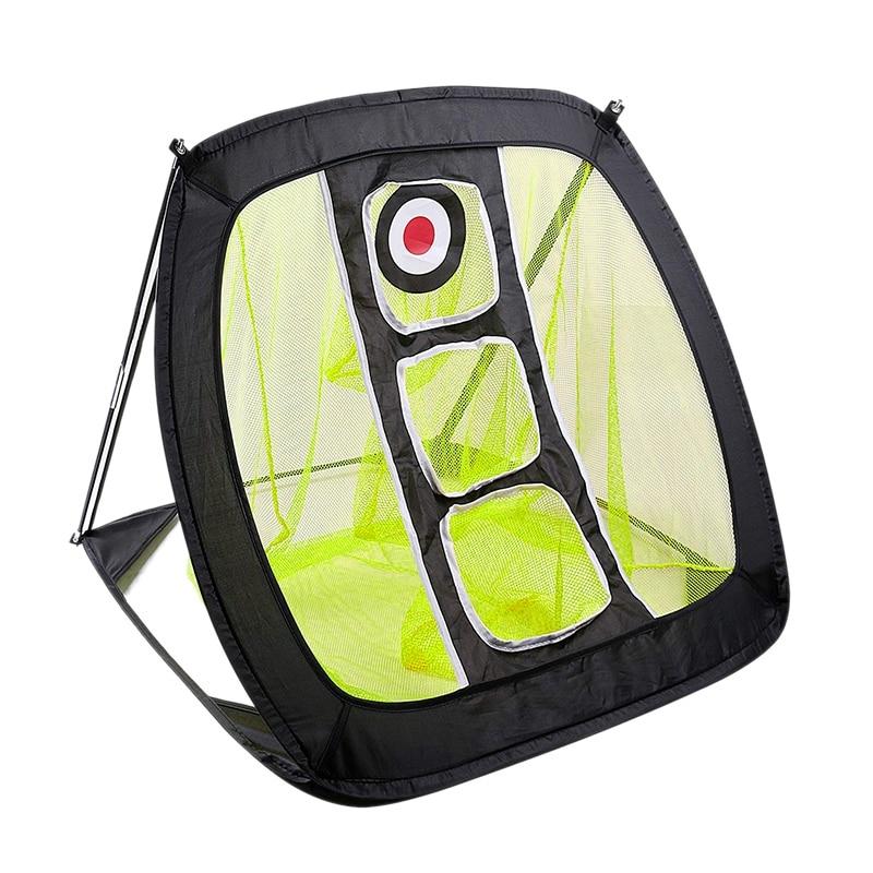 Nylon Golf Practice Net Golf Cutter Net Portable Golf Practice Net Yellow+Black
