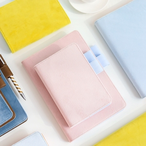 Image 2 - A5 A6 Cloth Cover Loose Leaf Notebook Cover Binder Filler Grid Paper Seperate Planner Receive Bag Card Storage Paper Notepad