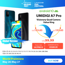 UMIDIGI A7 Pro Quad Camera Andriod 10 OS 6 3 #8243 FHD+ Full Screen 64GB 128GB ROM LPDDR4X Octa Core Processor Global Version Phone cheap Not Detachable Android Fingerprint Recognition Face Recognition Other 16MP 4150 Nonsupport Smart Phones 5G Wi-Fi Capacitive Screen