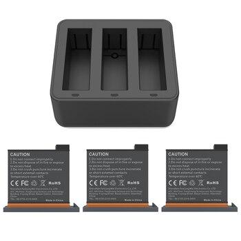 New DJI Osmo Action Charging Kit 3pes Battery+battery Charger Hub For DJI Osmo Action Sports Camera Accessories hb01 battery and charger for dji osmo mobile dji osmo handheld gimbal 4k camera hb01 522365 fast charger gimbal accesories