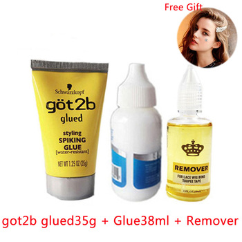 got2b glued spary got 2b gluebold hold lace glue got2b wig glue 38ml full Lace front Wig glue Adhesives for closure wig remover hair glue for lace wig bold hold lace glue set sell 1 glue 38ml remover and wig glue tape got2b glued spray wig glue bold hold
