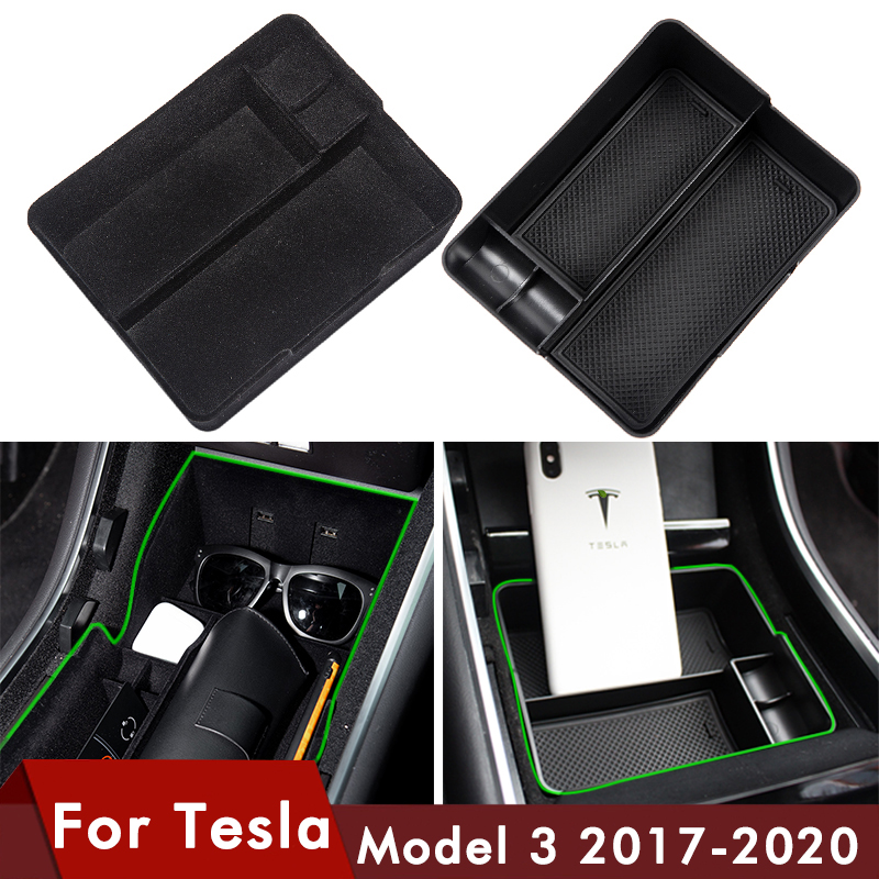 Car Central Armrest Storage Box For Tesla Model 3 Accessories 2017 - 2020 Console Arm Tray Holder Case For Tesla Model3 Three