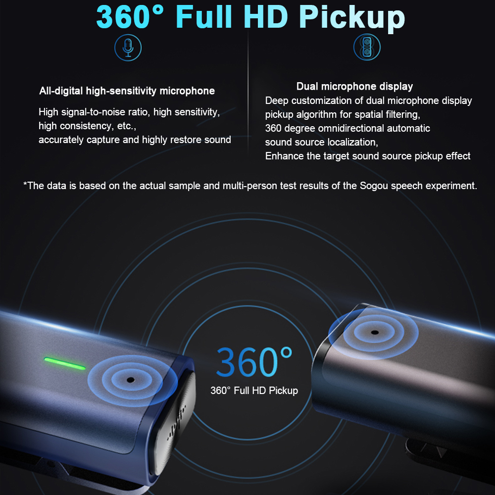 Voice Recorder Sogou Digital Intelligent Microphone Portable Professional HD Noise Reduction Recorder Pen translator for Meeting - 5
