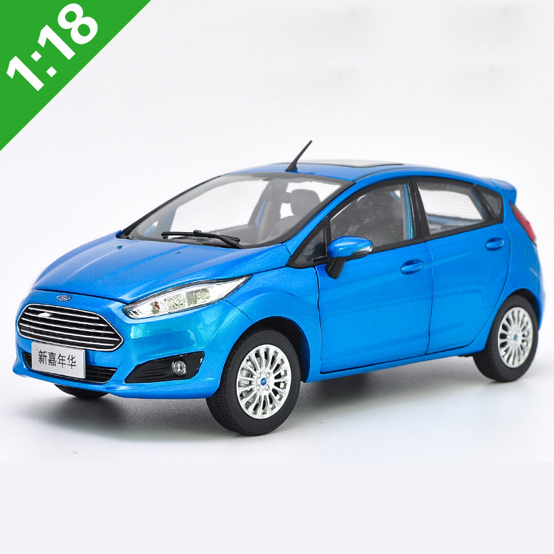 High Meticulous 1:18 FORD FIESTA Alloy Model Car Static Metal Model Vehicles Original Box For Collection
