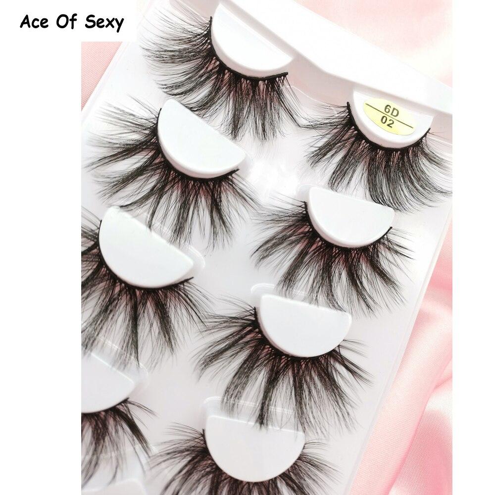 6D Natural Simulation False Eyelashes Fluffy Texture 3d Eyelashes Super Soft Three-dimensional Multilayer Eyelash Mink