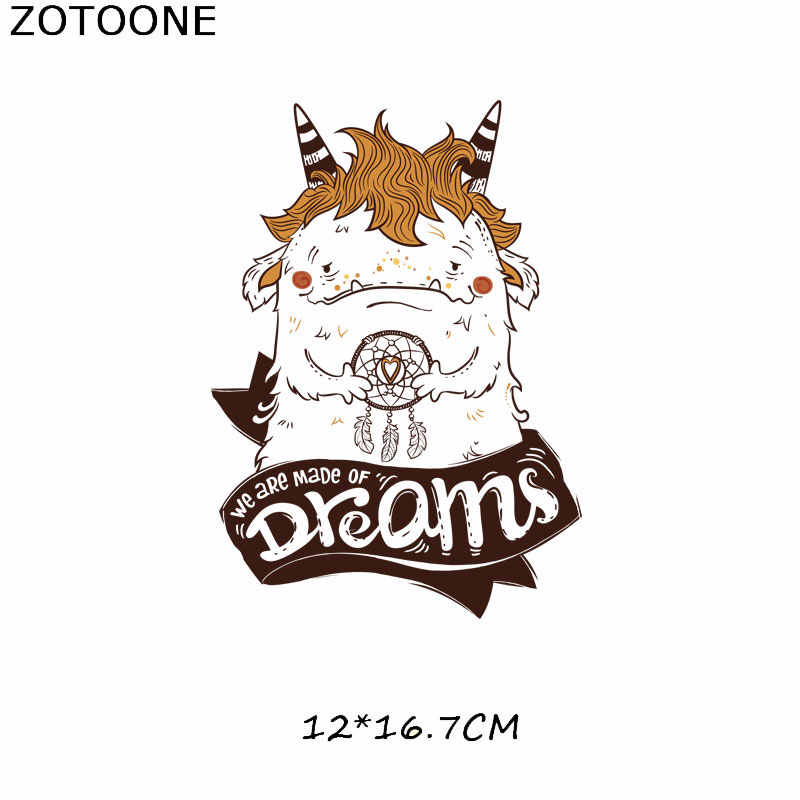 ZOTOONE 줄무늬 패치 전송에 아이언 티셔츠에 대한 귀여운 악마 개 패치 여자 아이 의류 DIY Thermo Stickers on Clothes G