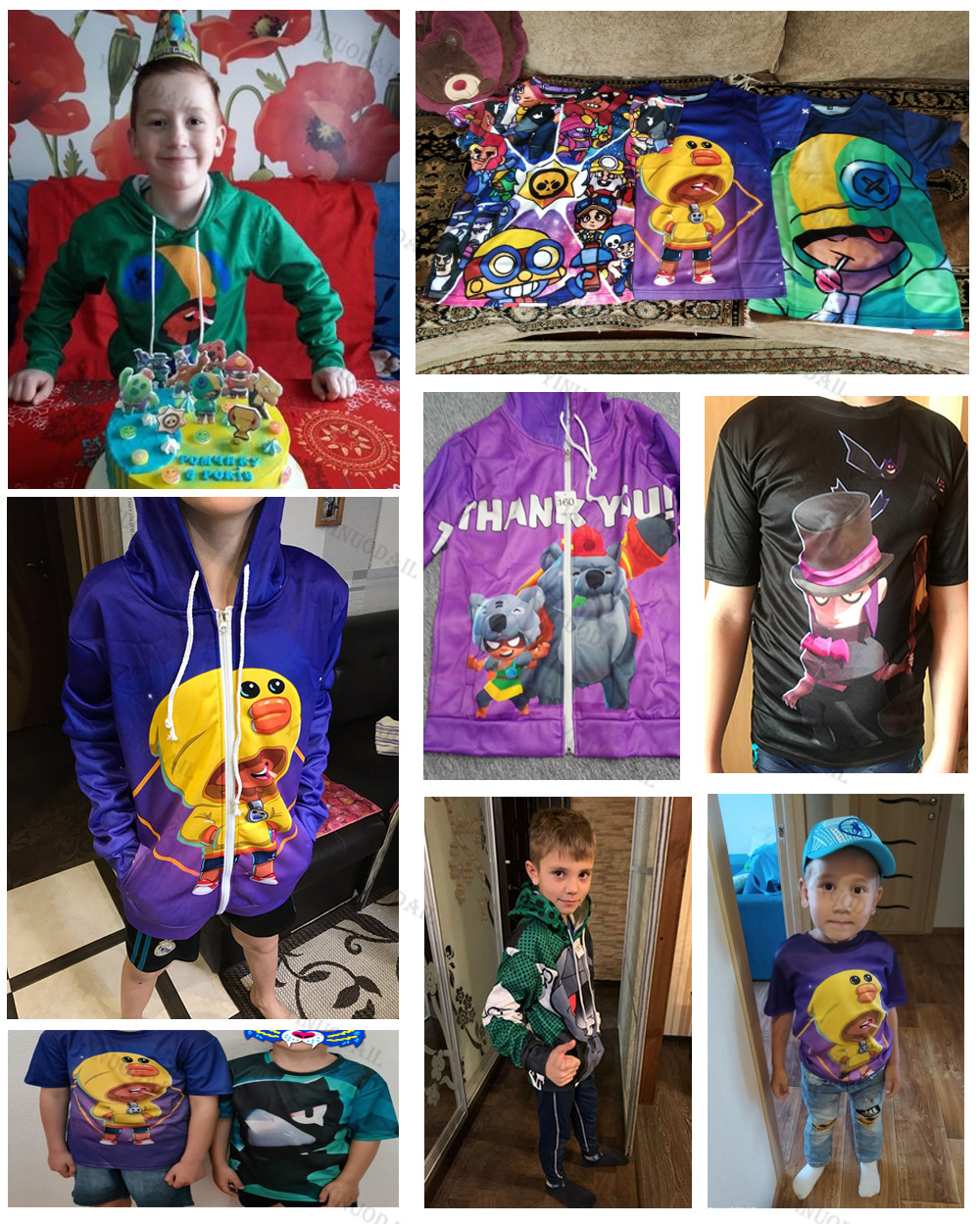 6 To 19 Years Kids Leon t shirts Brawling Spike and Star, Fashion Shooting Game PRIMO 3D Boys Girls Cartoon Tops Teen Clothes 4