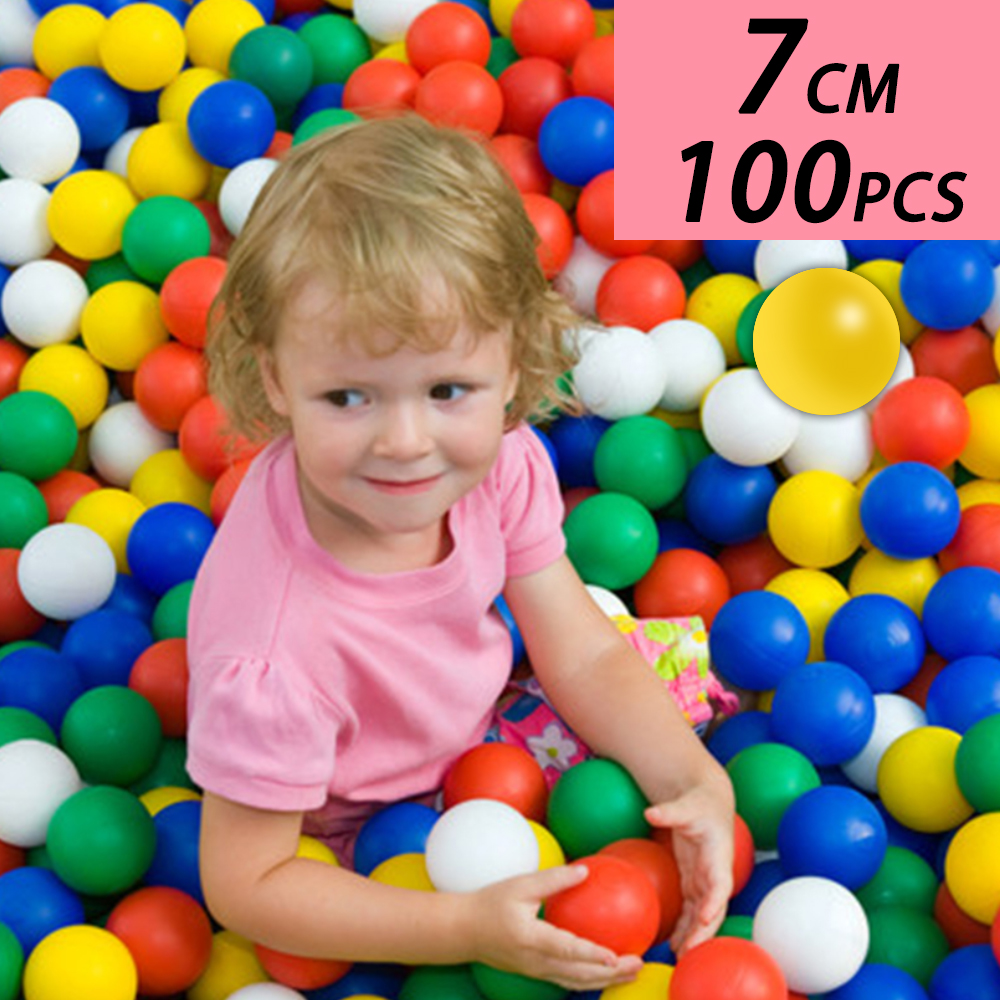 7CM100PCS Eco-Friendly Colorful Ball Soft Plastic Ocean Ball Funny Baby Kid Swim Pit Toy Water Pool Ocean Wave Ball