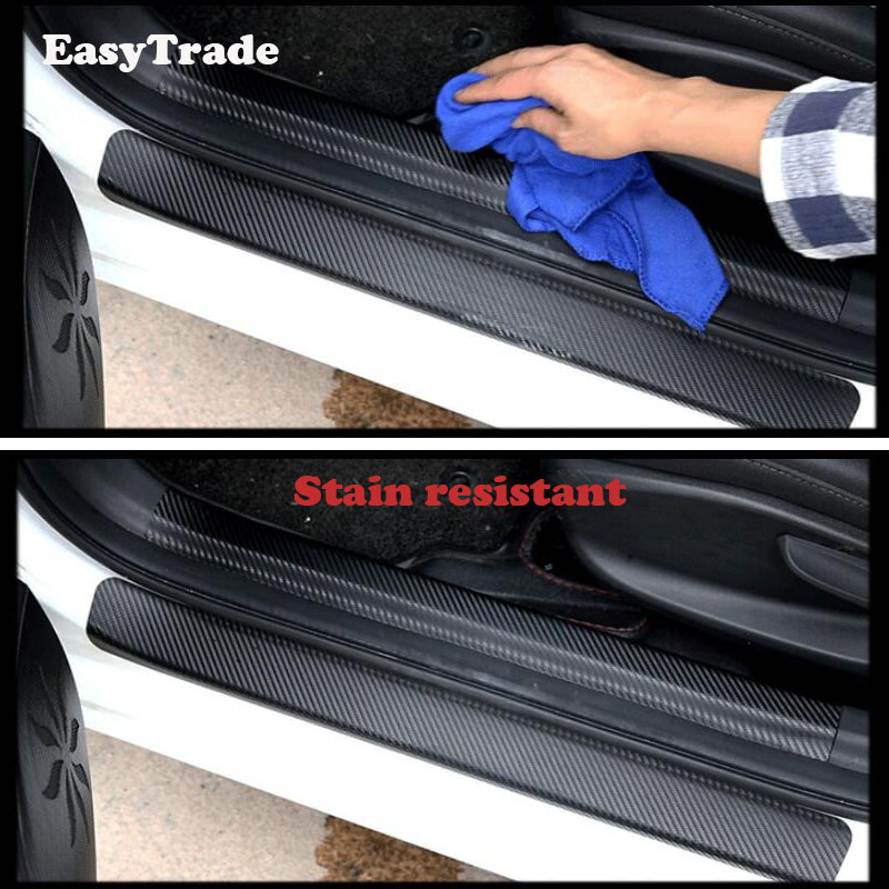 For Mitsubishi Eclipse cross Accessories Anti Scuff Trunk Inside door sill sticker Car Rear Door Sill Plate Protector in Interior Mouldings from Automobiles Motorcycles