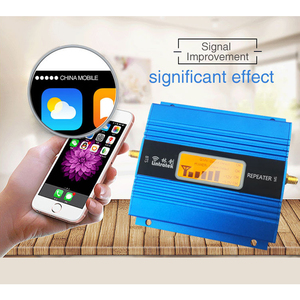 Image 2 - LCD Display 2G GSM 900Mhz Mobile Phone Cellular Signal Booster GSM 900 Signal Repeater Cell Phone Amplifier Antenna Set Home 41