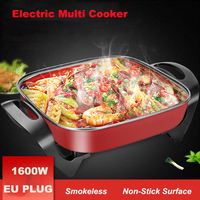 Household Electric Multi Cooking Non Stick Square Cooking Pot Hot Pot South Korea Cooking Appliance 220V EU Plug|Multicookers| |  -