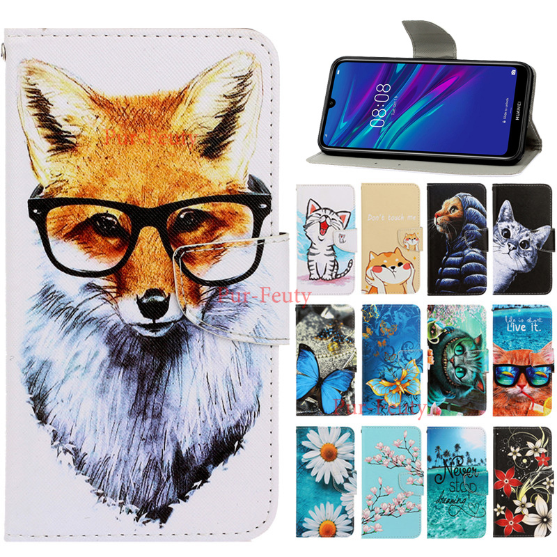 Leather Case For Huawei Y7 2019 DUB-LX1 DUB-LX3 Case Magnetic Flip Wallet Cases for Huawei Y7 Prime 2019 DUB LX1 Y72019 Cover image