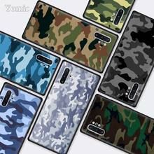 Camouflage Camo military Army Black Cases for Samsung Galaxy Note 10 5G 9 8 M40 M30 M20 S10 Plus A50 A70 Silicone Phone Cover