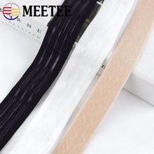 Meetee 25/30mm gumką gumy Skid silikonowy pasek na spodnie talii płaszcz buty odzież sportowa DIY wystrój akcesoria