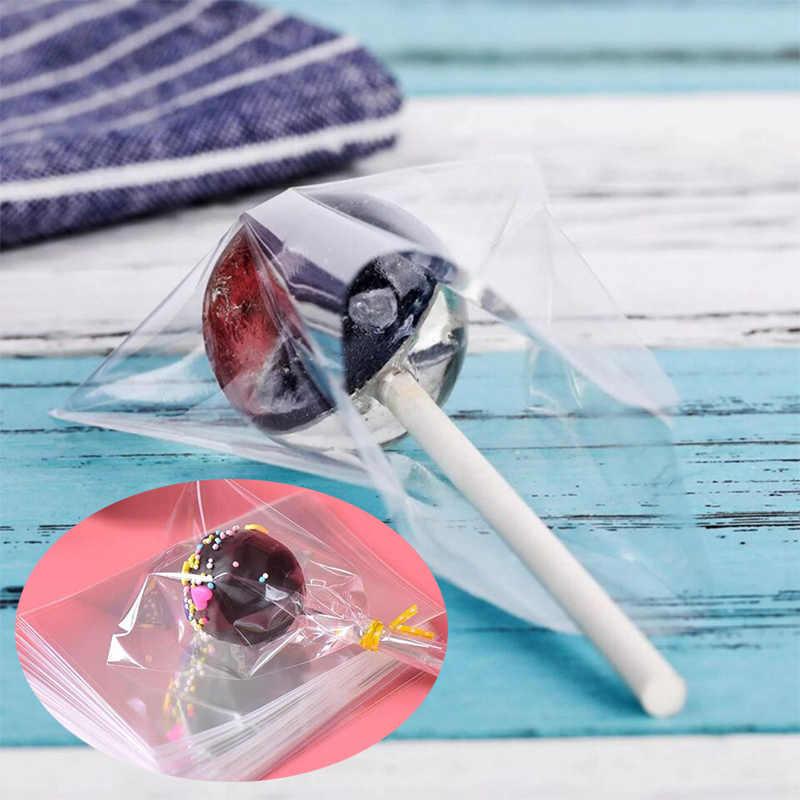 คุณภาพสูงงานแต่งงานถุงพลาสติกสำหรับ Candy Cellophane ถุงโปร่งใสคุกกี้บรรจุภัณฑ์ Lollipop 100 ชิ้น/ล็อตของขวัญกระเป๋า OPP