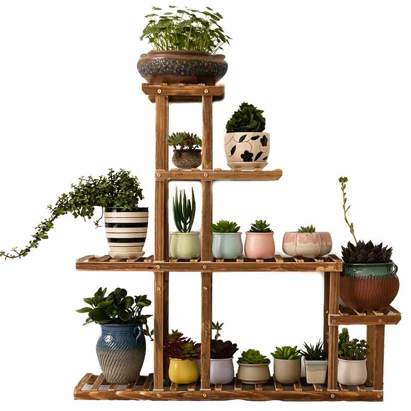 Room Domestic And Foreign Balcony Modern Simplicity Solid Wood To Ground A Living Room Meaty Botany Flowerpot Frame