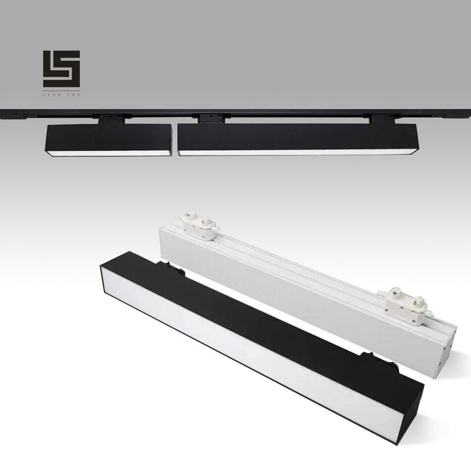 2019 새로운 60cm led 트랙 빛 라인 빛 20 w 크리 에이 티브 선형 긴 스트립 사무실 복도 저장소 몰 전시 천장 라인 램프