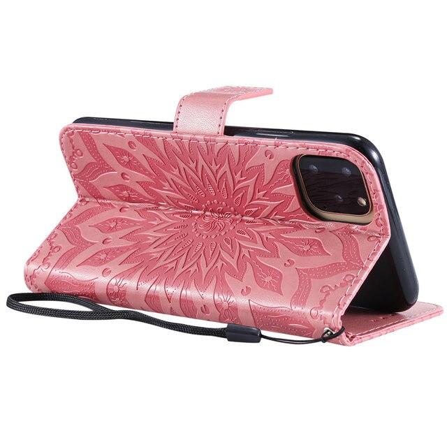 Luxury Flower Wallet Flip Case for iPhone 11/11 Pro/11 Pro Max 3
