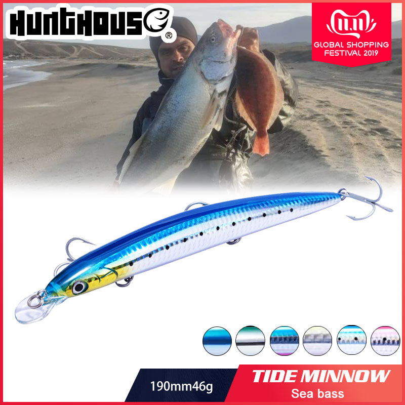 210mm 34g long casting floating minnow hard artificial fishing pencil lure