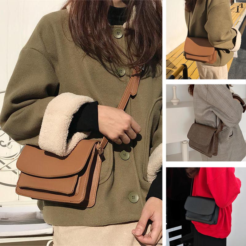 Droppshiping Women Mini Crossbody Bags Cell Phone Shoulder Bag PU Leather Purse Bag J55
