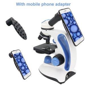 Image 3 - 40X 2000X Биологический микроскоп с регулировкой сверху/снизу светодиодный Монокуляр с подсветкой смартфон мобильный телефон микроскоп подарок