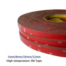 5mm 8mm 10mm 12mm High temperature Automobiles 3M Tape For Auto Truck Acrylic Foam Double Side Adhesive Tape 33m lot 3m high temperature tape 5 8 10 12 mm automobiles for double side adhesive tape car exterior tape car stickers
